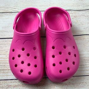 Crocs Classic Clogs Slip On Shoes Pink XXL M12-13